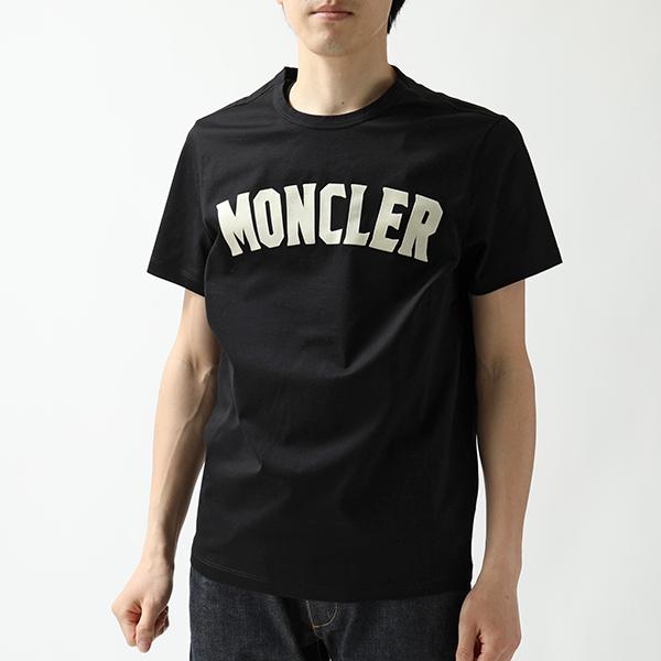 MONCLER 1952 GENIUS 2 モンクレール 8045350 8390Y クルーネック 半袖 Tシャツ カットソー ベルベットロゴ 999 メンズ