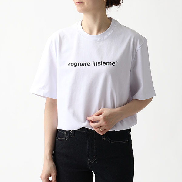 MSGM エムエスジーエム MDM253 クルーネック オーバーサイズ 半袖Tシャツ カットソー 01/ホワイト レディース