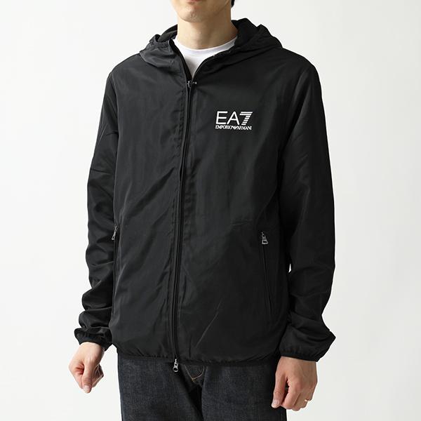 EA7 EMPORIO ARMANI エンポリオアルマーニ 8NPB04 PNN7Z ナイロン フーテッド ボンバージャケット ブルゾン 1200-BLACK メンズ