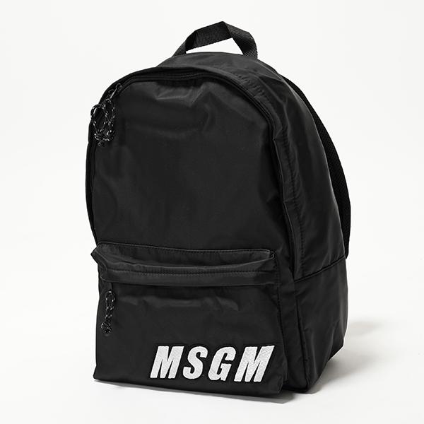 MSGM エムエスジーエム 2642 MDZ200 バックパック リュック バッグ デイパック ロゴ 99 ユニセックス