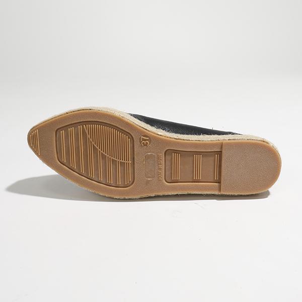 エントリーでポイント3倍対象 24日23時59まで kanna カンナ KV8039 SOFIA レザー×ジュート エスパドリーユ パンプス フラットシューズ NEGRO 靴 レディースPkZuXi