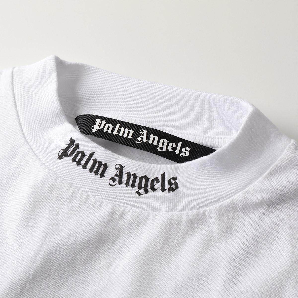 エントリーでポイント最大16倍!5/15限定★Palm Angels パームエンジェルス PMAA002S 19413007 LOGO OVER TEE オーバーサイズ ビックシルエット 半袖 Tシャツ カットソー 0110 メンズ