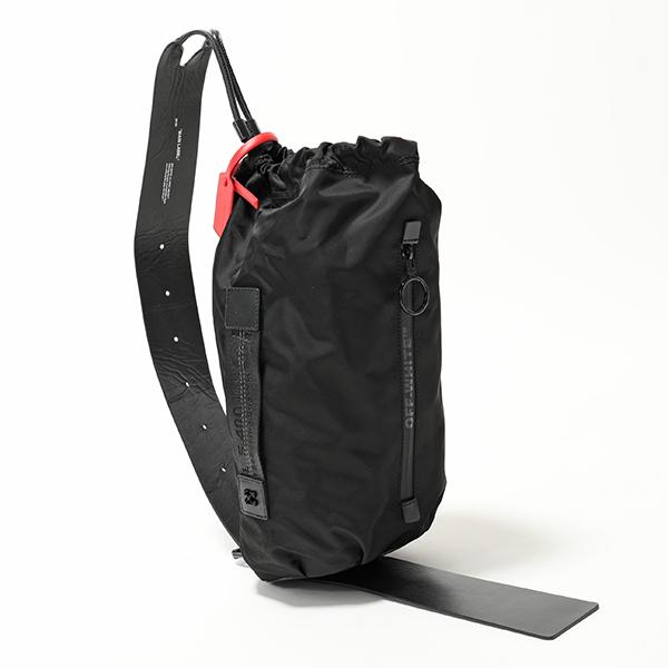 OFF-WHITE オフホワイト VIRGIL ABLOH OWNA075S19074044 BUMBAG ナイロン ボディバッグ 巾着 1000/BLACK ユニセックス 鞄 レディース