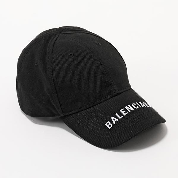 【訳有】BALENCIAGA バレンシアガ 531588 310B5 1077 ロゴ刺繍 ベースボールキャップ 帽子 ユニセックス