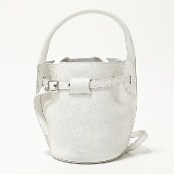 CELINE セリーヌ 187243A4U.01BC Big Bag Nano Bucket ビッグバッグ ナノ バスケット トートバッグ ショルダーバッグ White レディース