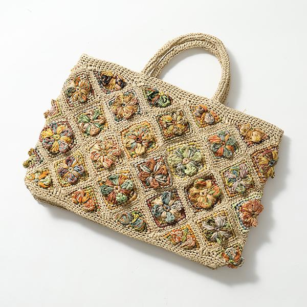 sophie digard ソフィー ディガール S 031 3899 R M ラフィア かごバッグ カゴバッグ ハンドバッグ フラワー FLAX/AGRUM 鞄 レディース