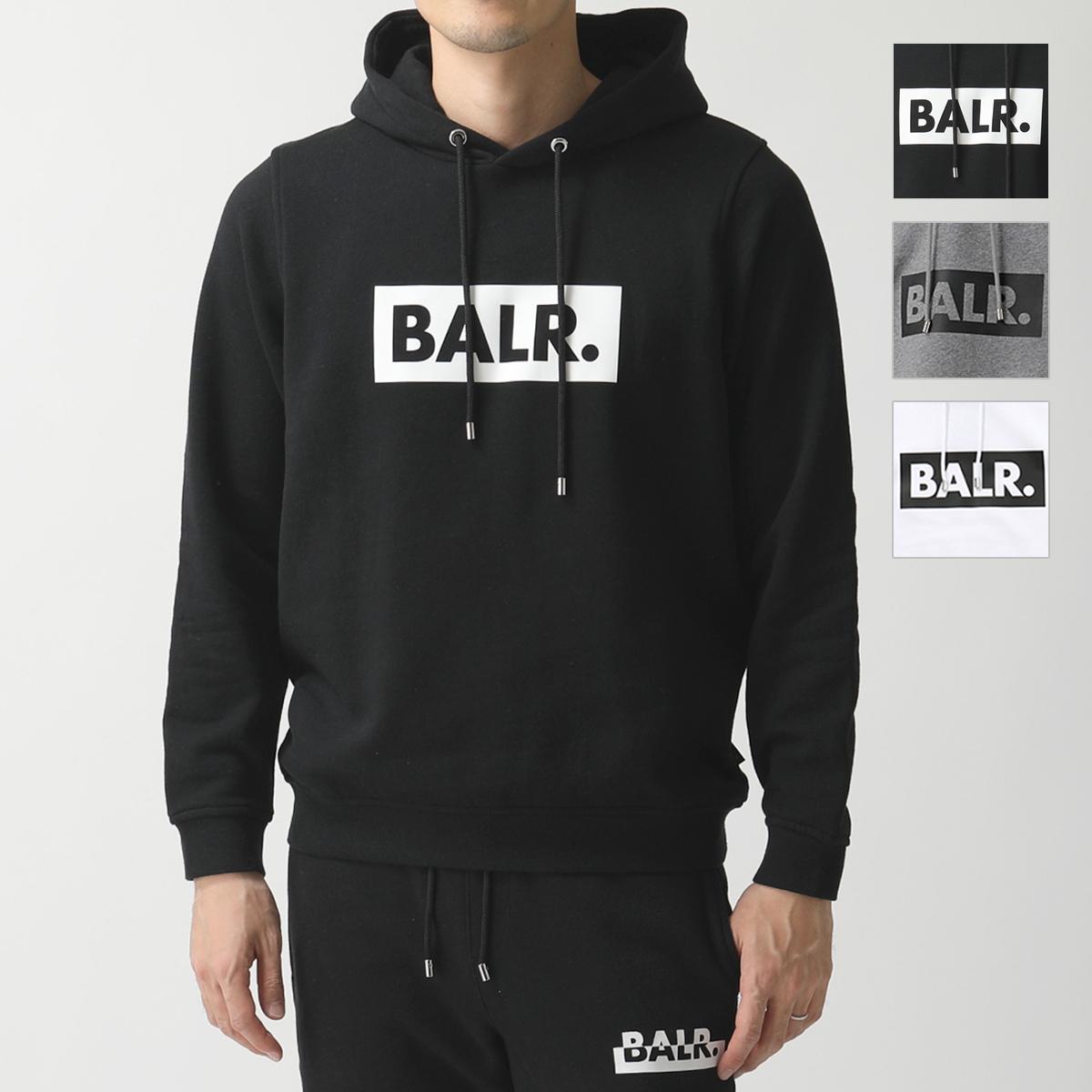 BALR. ボーラー Club Hoodie スウェット プルオーバー パーカー 裏起毛 BLACK/ブラック メンズ