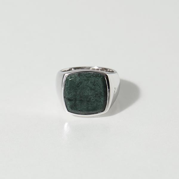 【2,000円OFFクーポン対象!4月1日限定】TOMWOOD トムウッド R74HQGMB 01 Cushion Green Marble シルバー925 クッションカット リング 指輪 SILVER レディース