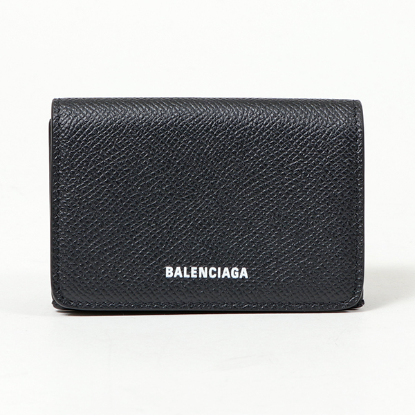BALENCIAGA バレンシアガ 558208 0OTGM 1000 VILLE ビル レザー 三つ折り財布 ミニ財布 豆財布 BLACK レディース