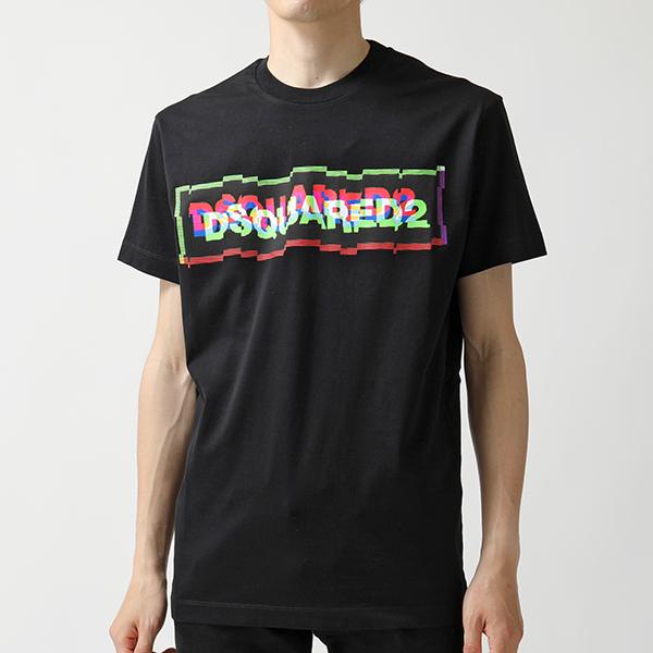 DSQUARED2 ディースクエアード S74 GD0597 S22844 900 グラフィックロゴ クルーネック 半袖 Tシャツ メンズ