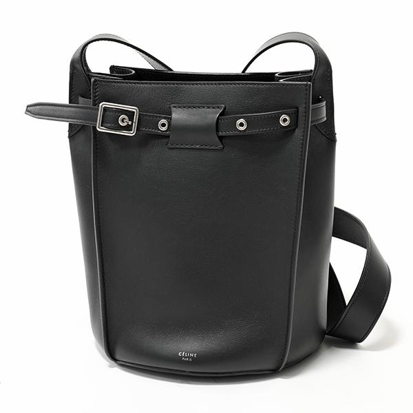 【グッドプライス】 かばん CELINE セリーヌ 183343A4T.38NO Bucket Long Strap Big Bag レザー ビッグバッグ バスケット ショルダー トートバッグ Black 鞄 レディース #oldceline