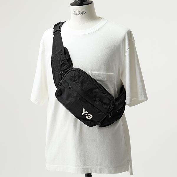 エントリーでポイント最大14倍 20日21時~23時59まで Y 3 ワイスリー adidas アディダス YOHJI YAMAMOTO FH9244 SLING BAG ナイロン 3way ベルトバッグ ボディバッグ ショルダーバッグ BLACK 鞄 メンズOkPiZXu