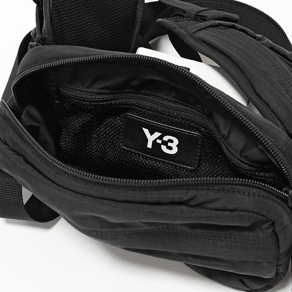 エントリーでポイント最大14倍 20日21時~23時59まで Y 3 ワイスリー adidas アディダス YOHJI YAMAMOTO FH9244 SLING BAG ナイロン 3way ベルトバッグ ボディバッグ ショルダーバッグ BLACK 鞄 メンズdCoexBWr