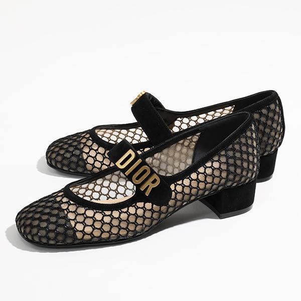 人気が高い  Dior ディオール NAUGHTILY-D ローヒール KCB043 SURS 靴 900 NAUGHTILY-D メッシュ パンプス スウェード×ロゴパーツ バンド スクエアトゥ ローヒール Noir 靴 レディース, おやすみeマート:5c776f7b --- dibranet.com