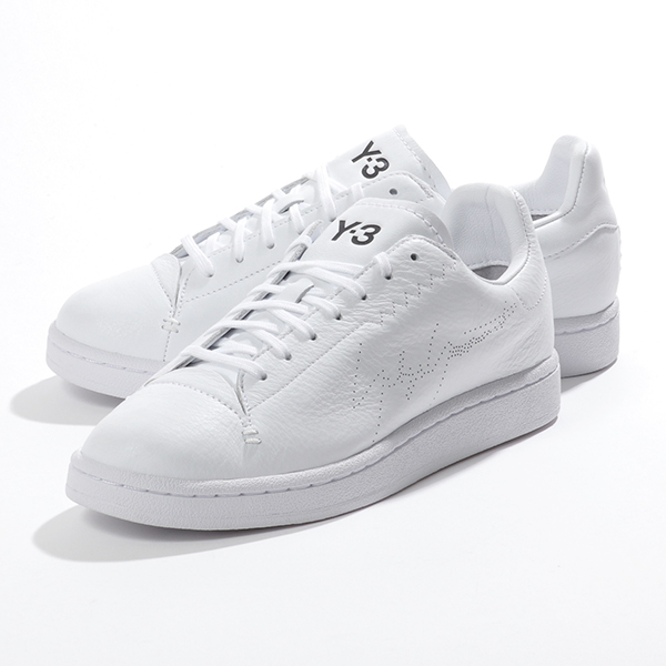 【初売り】 レザー EF2554 FTWWHT/FTWWHT Y-3 YAMAMOTO ワイスリー シューズ 靴 COURT ローカット adidas メンズ:インポートセレクト musee アディダス スニーカー YOHJI-メンズ靴