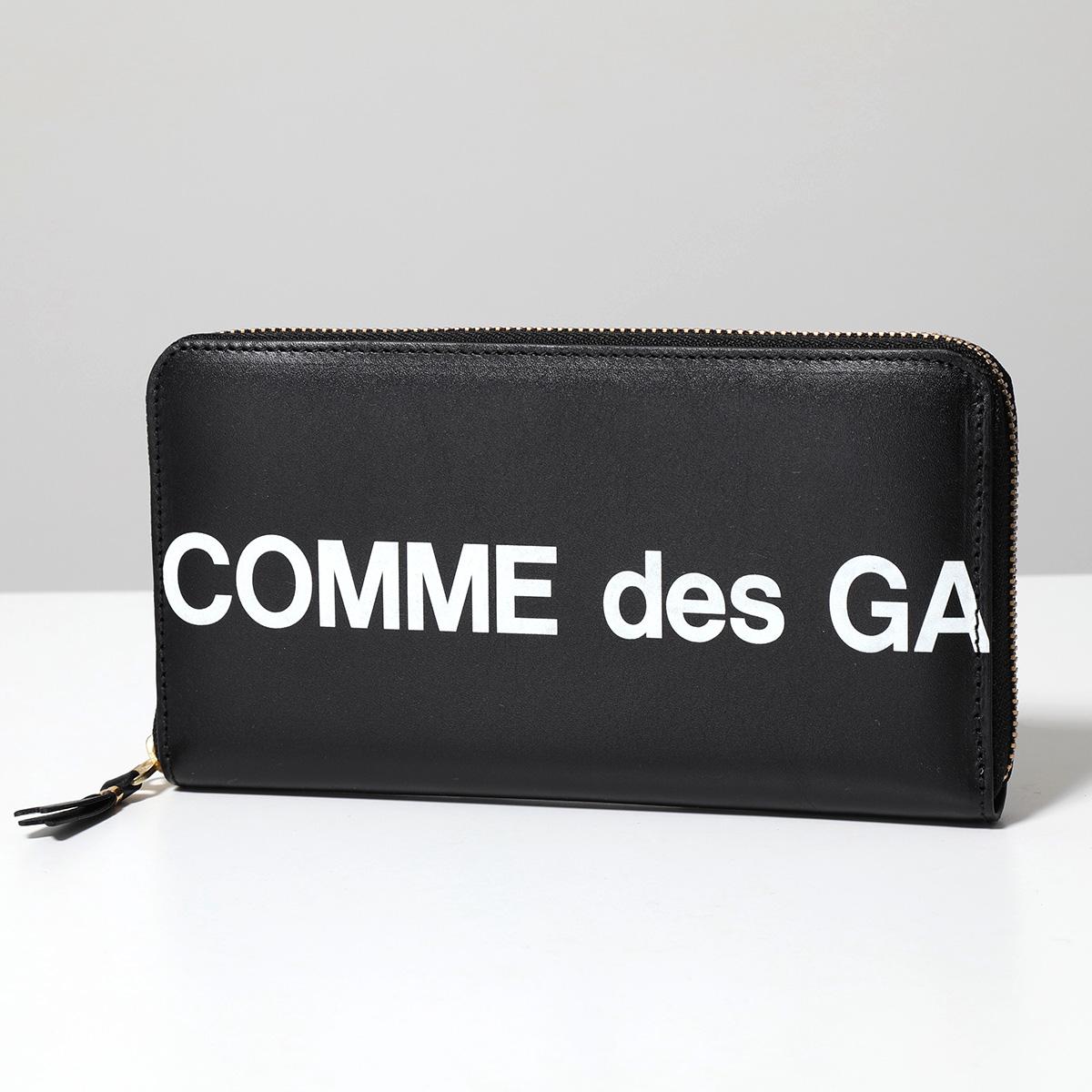 COMME des GARCONS コムデギャルソン SA0111HL HUGE LOGO レザー ラウンドファスナー 長財布 BLACK メンズ