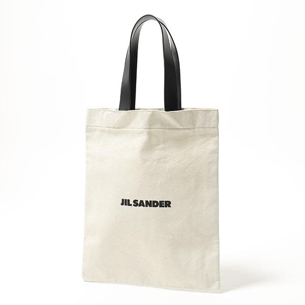 【グッドプライス】【2019年秋冬新作】 かばん JILSANDER ジルサンダー JSMP850123 MPB73006 フラットショッパーMD キャンバス トートバッグ ロゴバッグ 102 鞄 レディース