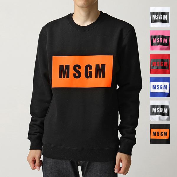 MSGM エムエスジーエム 2740 MM68 クルーネック スウェット トレーナー ボックスロゴ 裏起毛 カラー6色 メンズ