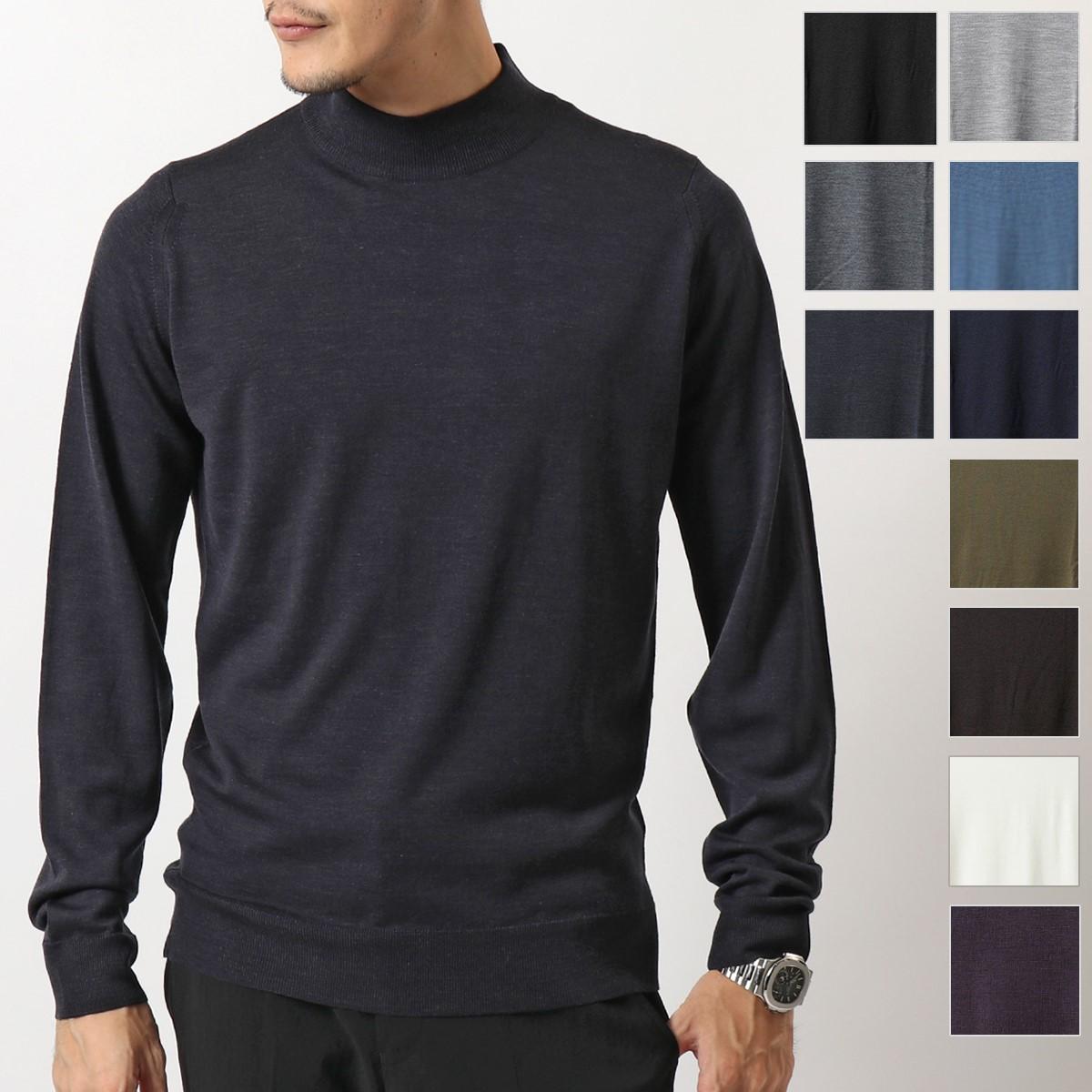 JOHN SMEDLEY ジョンスメドレー HARCOURT ハーコート STANDARD FIT メリノウール モックネック ニット セーター カラー8色 メンズ