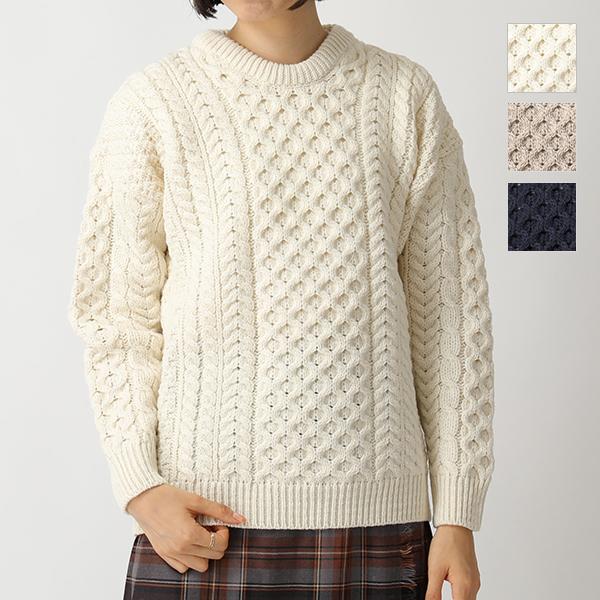 Aran Woollen Mills アランウーレンミルズ A823 アランニット メリノウール ニット セーター 2色
