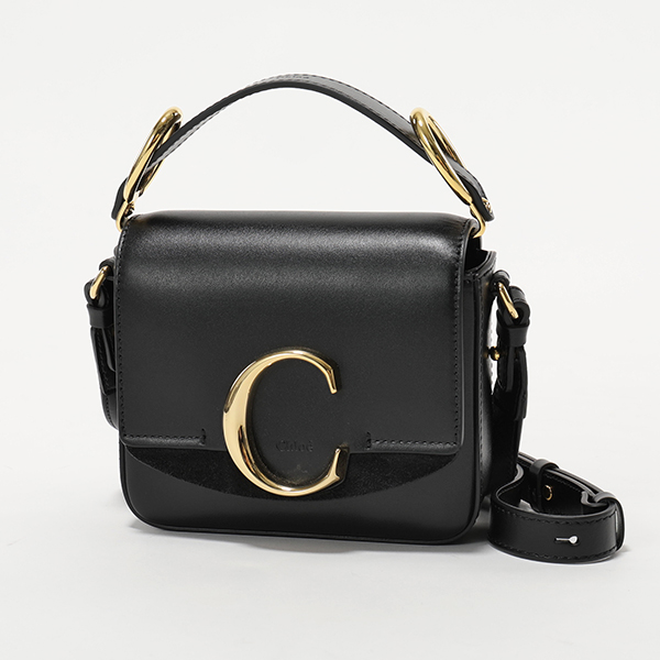 【2019年秋冬新作】 かばん Chloe クロエ 19US193 A37 001 レザー ショルダーバッグ ポシェット ハンドバッグ Black 鞄 レディース