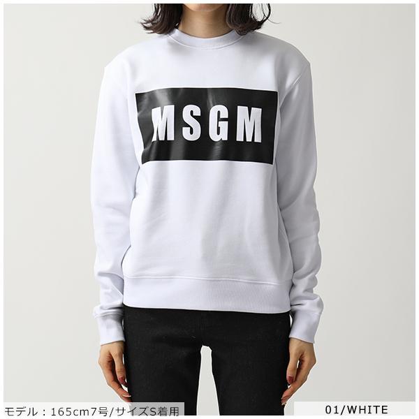 MSGM エムエスジーエム 2541 2741 MDM96 カラー5色 長袖 スウェット トレーナー ボックスロゴ 裏起毛 レディースiPkZXOuT