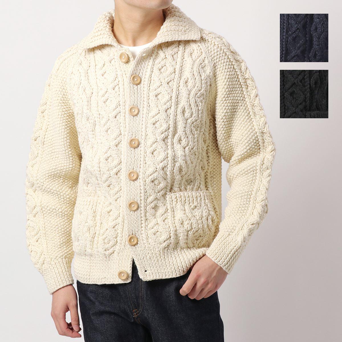 INVERALLAN 買物 値引き インバーアラン 3A 長袖 ニット 2色 メンズ セーター カーディガン