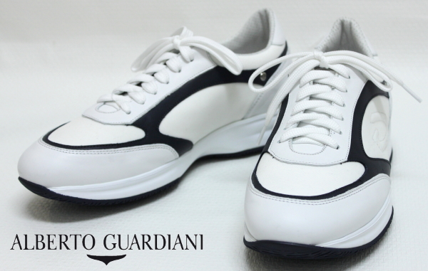 【SALE50】アルベルトガルディアーニ【AlbertoGuardiani】厚底レザースニーカー/ SU68361C / AX10