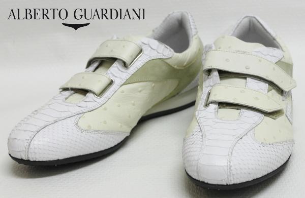 【SALE50】アルベルトガルディアーニ【AlbertoGuardiani】型押しレザースニーカー/SU68308C / PS1060