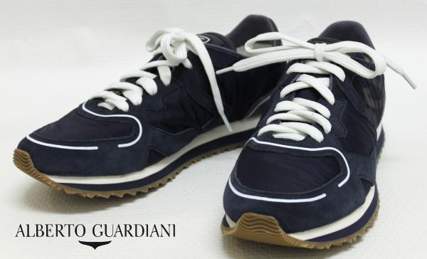 【SALE50】アルベルトガルディアーニ【AlbertoGuardiani】レザースニーカー/SU68391D / SX78