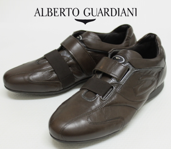 アルベルトガルディアーニ【AlbertoGuardiani】レザースニーカー/SU65305B NR48