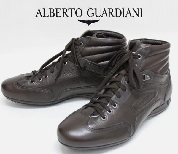 【SALE50】アルベルトガルディアーニ【AlbertoGuardiani】ハイカットレザースニーカー/SU65346B NK49