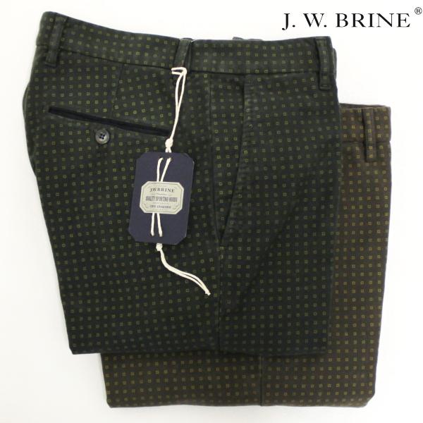 【秋冬 国内正規】【J.W.BRINE】ジェイダブリューブライン【TOP JAMES 18】コットンストレッチパンツ / 41578