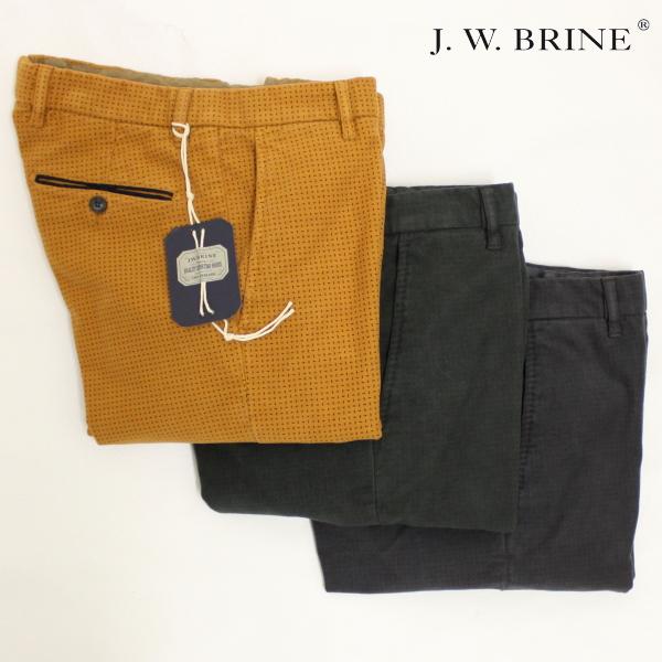 【秋冬 国内正規】【J.W.BRINE】ジェイダブリューブライン【TOP JAMES 18】コットンストレッチパンツ / 41579