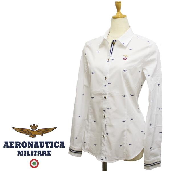 【春夏 国内正規】アエロナウティカ【AERONAUTICA】【レディース】カジュアルシャツCA1110D