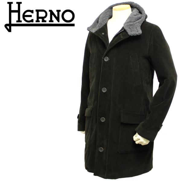 【秋冬 国内正規】ヘルノ【HERNO】【メンズ】コーデュロイフーテッド中綿入りコートPA0051U