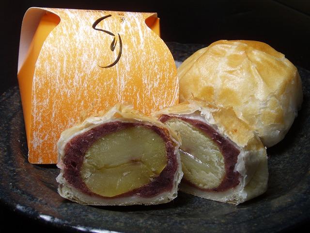 和と洋のコラボレーション パイ皮で包んだおまんじゅうです 手作りの和菓子屋 サクサクのパイ皮で包んだ栗のおまんじゅう 栗 marutaya 1個 パイ饅頭 上質 高級品