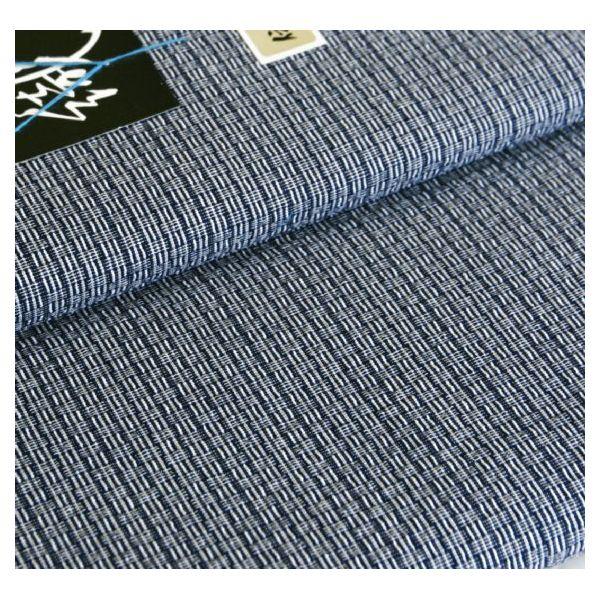 阿波しじら織 木綿着物 着尺 反物 No.319  阿波正藍しじら織 伝統工芸品 全40柄以上 単衣着物 浴衣