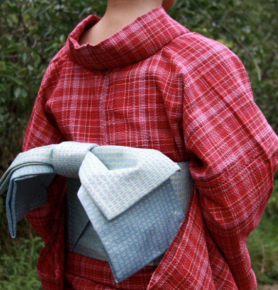 阿波しじら織 木綿きもの No.042 単衣仕立て 阿波正藍しじら織 伝統工芸品 送料無料