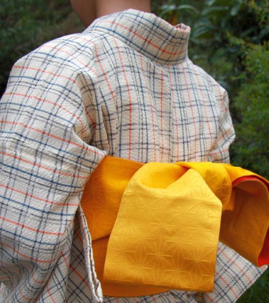 【送料無料】阿波しじら織木綿きもの[085]単衣仕立て 阿波正藍しじら織伝統工芸品