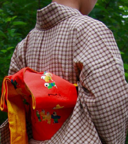 【送料無料】阿波しじら織木綿きもの[019]単衣仕立て 阿波正藍しじら織伝統工芸品