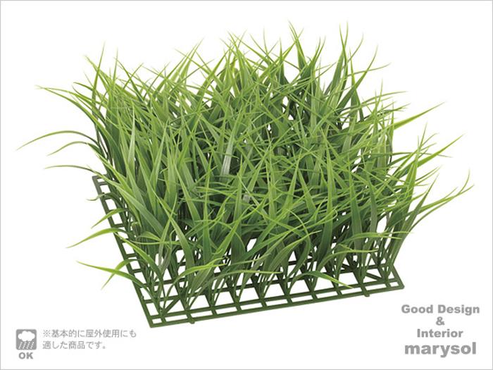 ベランダ 国産品 造花 ファクトリーアウトレット マット アレンジ 下地 壁面 インテリア プラスチック 芝生 L 人工植物 トールグラスガーデンマット 屋外使用可 LEE-7028-L-dg