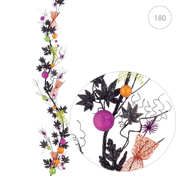 ■ハロウィンボールガーランド(店舗装飾・ハロウィン・ディスプレイ・インテリア・10月・秋のディスプレイ・ガーランド)