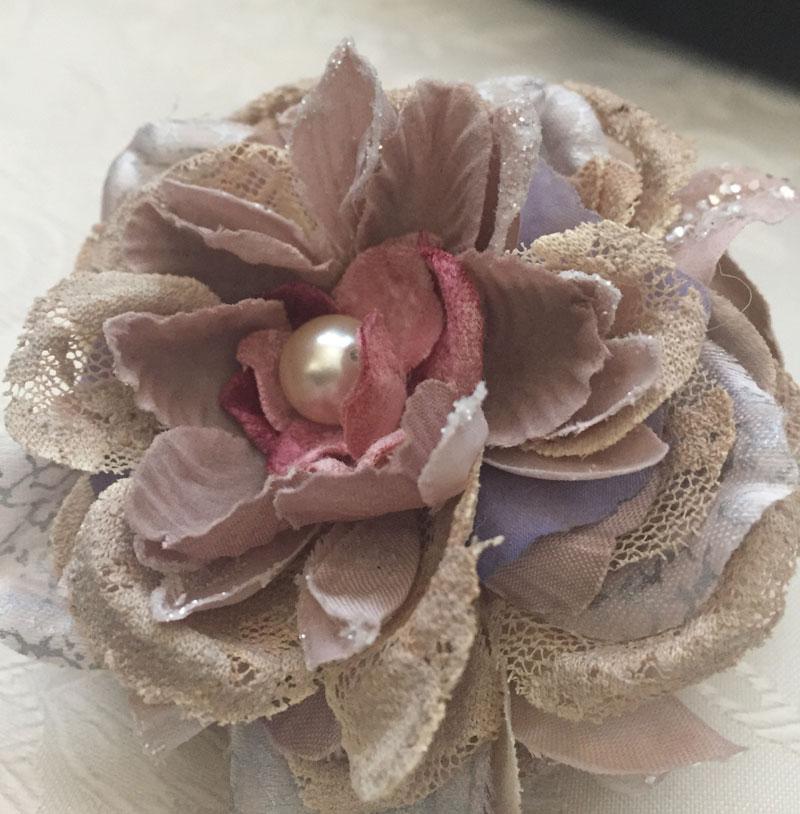 【コサージュ】■「アンティークピオニーコサージュ」(Le-Ciel・ソラバナ・花びらを1枚1枚バラす手法での1点もの)