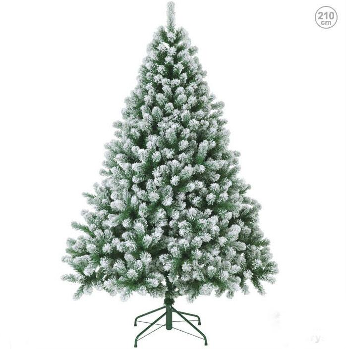 雪をかぶったような210cmスノーパインツリー クリスマスツリー (クリスマス/デコレーション/モチーフ/ディスプレイ/オーナメント/イルミネーションやクリスマスツリーで楽しく装飾・・・プレゼントに・・・