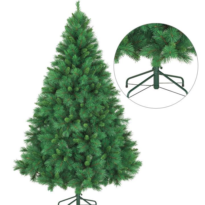 210cmミックスニードルパインツリー クリスマス・ツリー・オーナメント・LED・おしゃれ・インテリア・ヌードツリー・置物・ボール・クラシック・スノー・雪・北欧・商業施設・ホテル・店内ツリー・店内装飾
