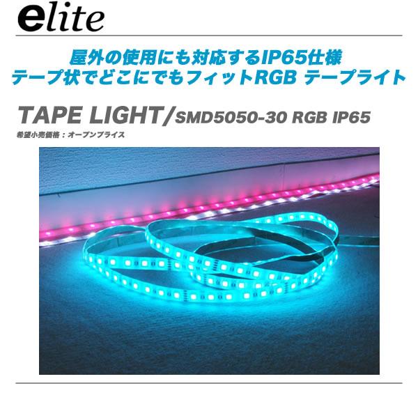 E-Lite TAPE LIGHT SMD5050-30 RGB IP65 5m テープライト 代引き手数料無料 IP65屋外仕様モデル 定番キャンバス イーライト e-lite テープ状でどこにでもフィットするテープライト 商品追加値下げ在庫復活