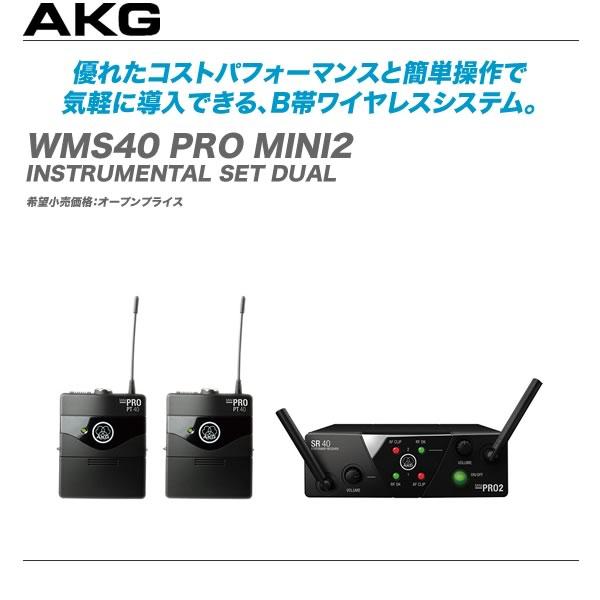 AKG エーケージー ワイヤレスシステム WMS40 PRO MINI2 INSTRUMENTAL SET DUAL代引き手OnP0wk