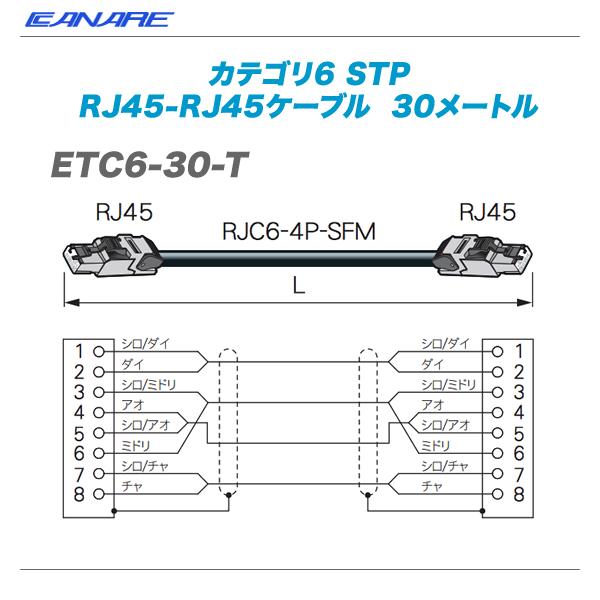 CANARE(カナレ)RJ45ケーブル『ETC6-30-T』【代引き手数料無料♪】