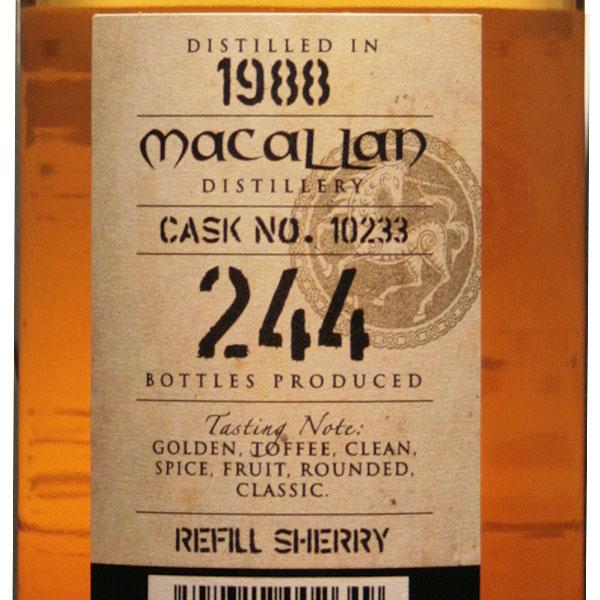 Kingsbury Macallan 25 year 1988 48.9% 700 ml cask strength gold UK-Scotland Macallan distillery bottles whisky single malt scotch 枡屋 Hong 枡屋 Hong